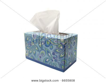 Isolated Blue Box Of Tissues