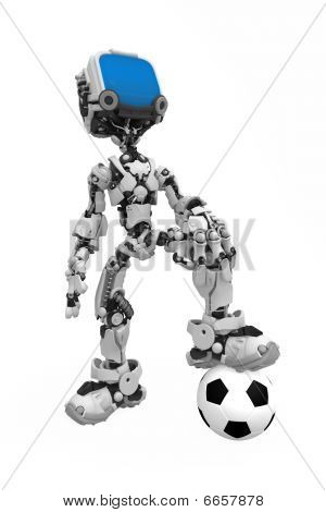 Blue Screen Robot, Soccer Ball