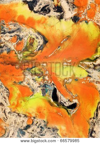 Abstract splatter painting background - marble technique