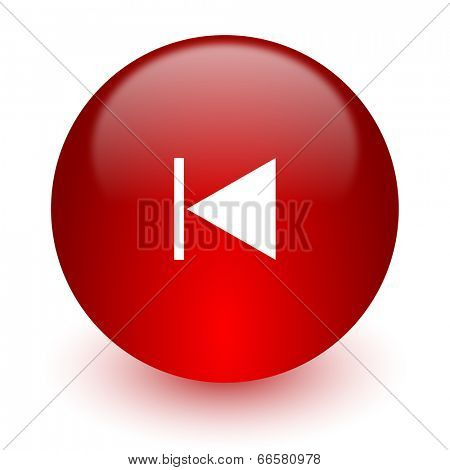 prev red computer icon on white background
