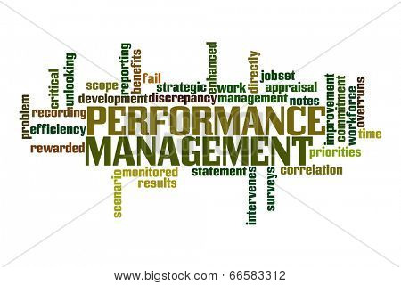 Performance Management Word Cloud poster