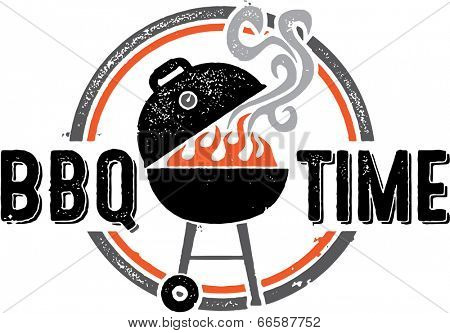 Barbecue BBQ Time Vintage Graphic