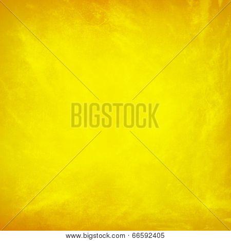Vintage Grunge Yellow Background Texture Design Layout
