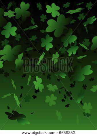 Green shamrock background