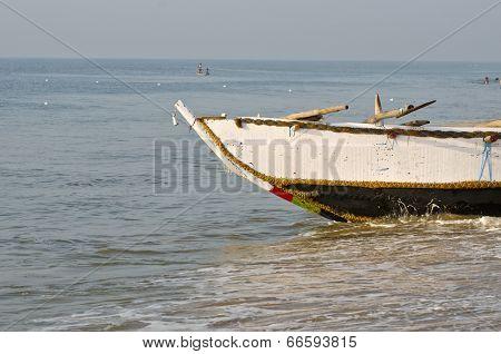 Fishing Boat On Bengal Sea Beach, India