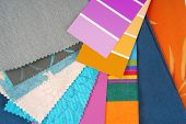 close up of color design selection for interior poster
