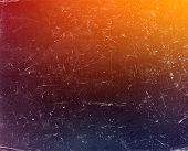 Old grunge gradient colorful background with scratches poster