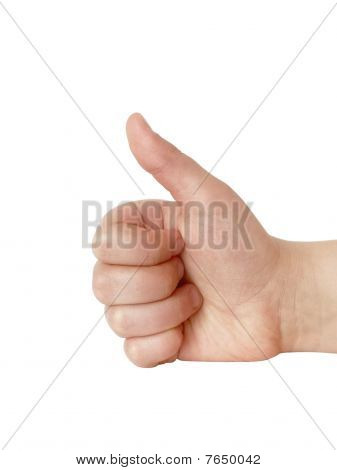 Hand Showing Ok Sign