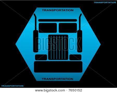 Heavy truck silhouette