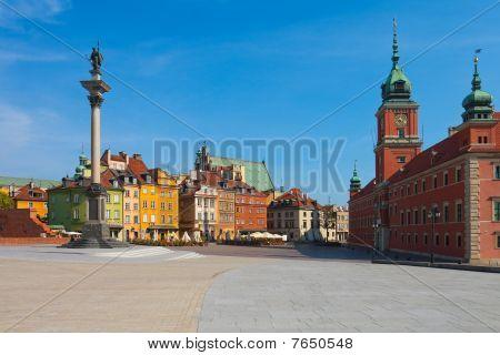 Castle Square in Warsaw, Poland