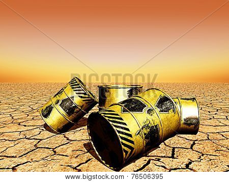 Barrels Of Radioactive Waste