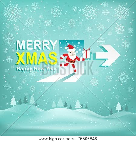 Merry Christmas and New Year 2015 Vector background.
