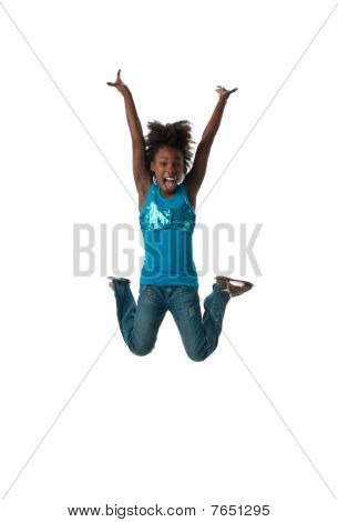 Girl Jumping Happy