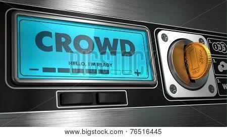 Crowd on Display of Vending Machine.