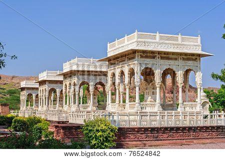 Marble Cenotaphs Of Marwar Kings