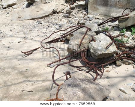 Rebar steel rods