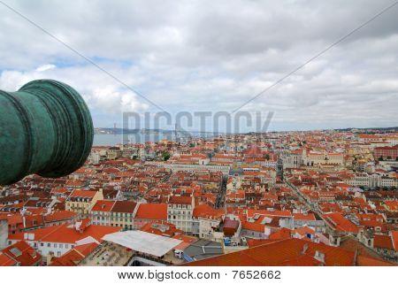 Lisbon rooftop view
