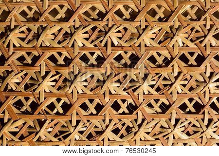 Woven bamboo pattern of basketwork
