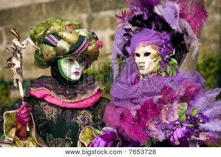 Venitian Carnival In Paris
