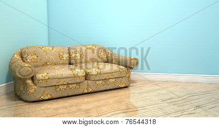 Old Classic Sofa In A Room