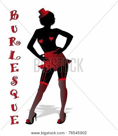 silhouette of burlesque dancer