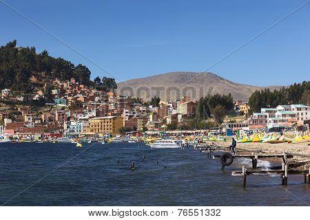 Copacabana at Lake Titicaca in Bolivia