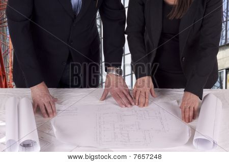 Going Over The Blue Print