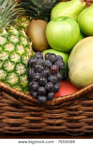 fresh healthy fruits in a basket showing the beauty of nture poster