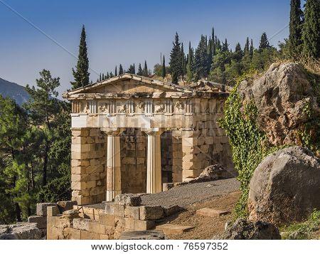 Treasury of Delphi, Greece