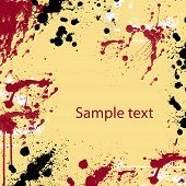 Grunge blood splash background with space for  text poster