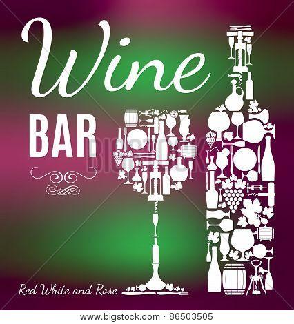 Wine menu background