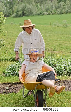 Seniors Having Fun In Summer