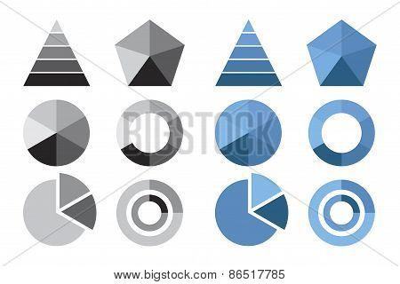 Circle Diagram, Business Chart Elements, Circle Cart Infographic Design
