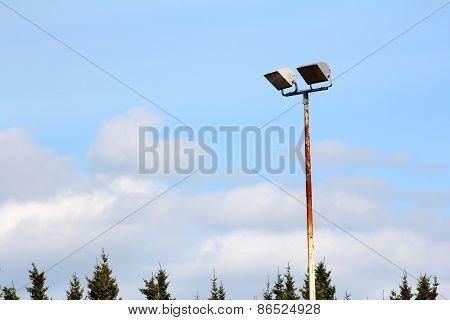 Sports Field Lighting And The Tops Of Trees