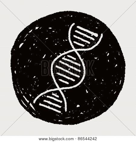 Doodle Gene, illustration vector eps , Children's crayon drawing stylen. poster