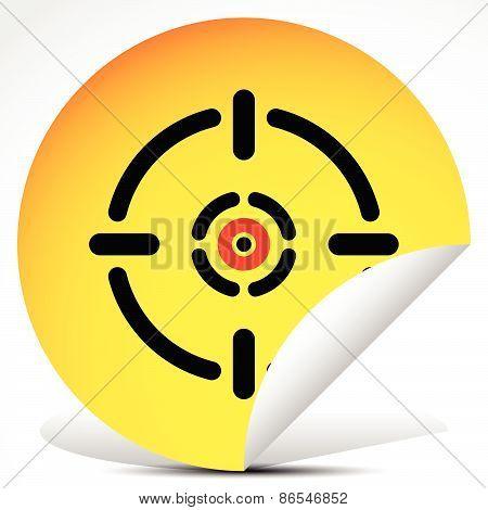 Cross Hair, Target Mark On Peeling Sticker