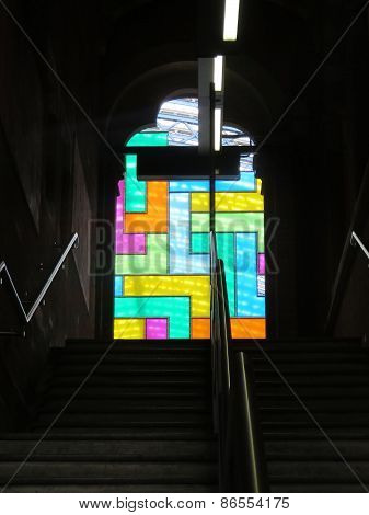 New Artwork Is Unveiled At St Pancras Railway Station, In Central London 1St August 2014
