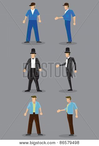 Men's Fashion Vector Character Illustration