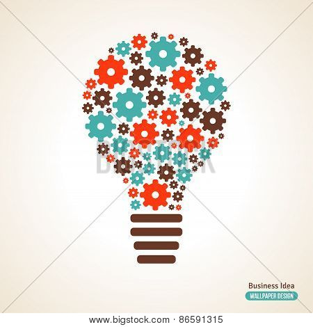 Light Bulb with Gears Pattern.