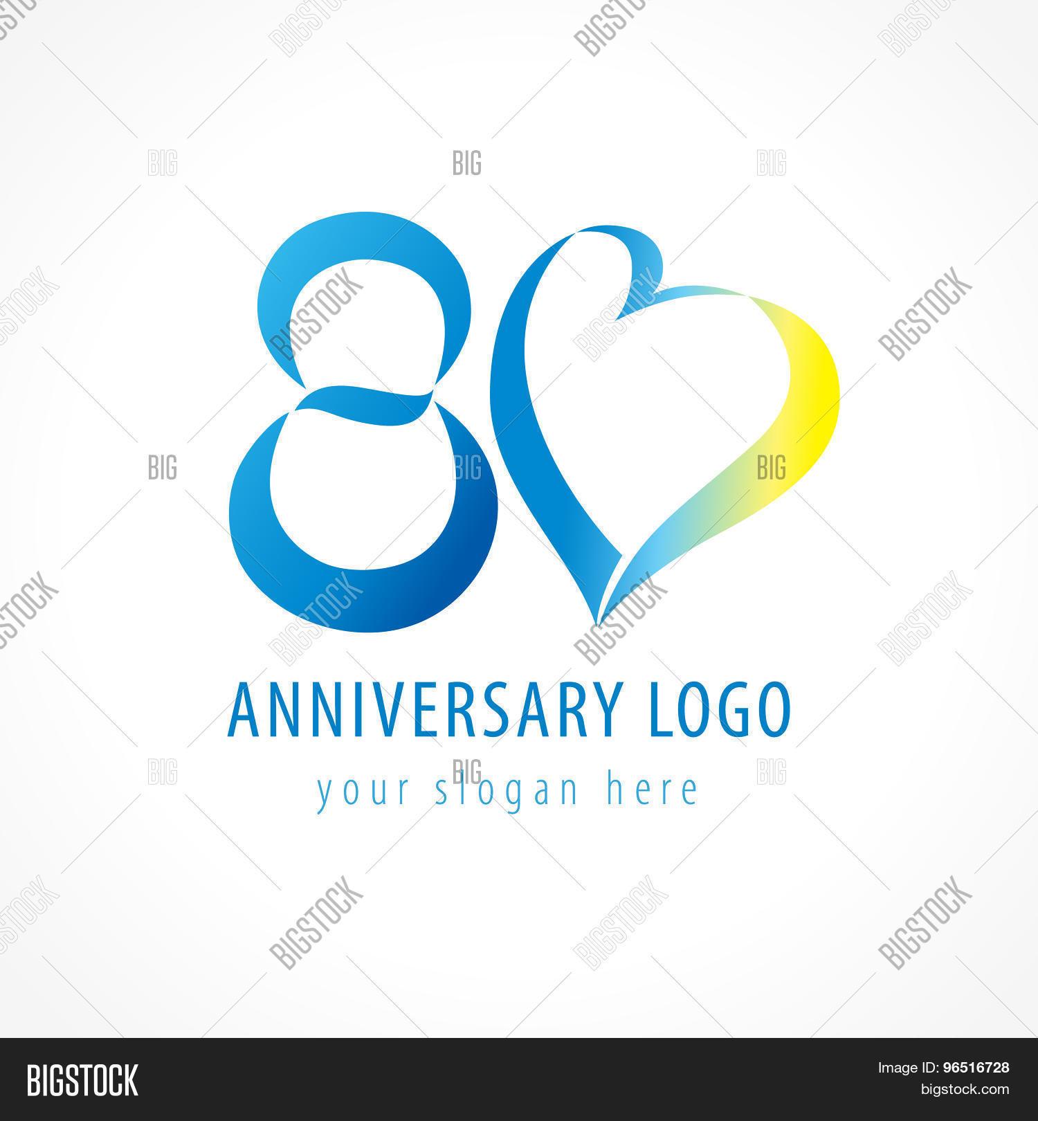Anniversary 80 Years Vector Photo Free Trial Bigstock