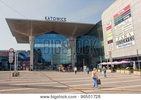 Katowice, Poland - July 19, 2015: New Railway Station In Katowic