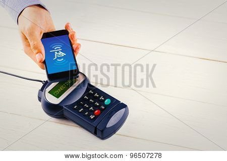 Payment screen against mobile payment