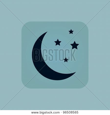 Pale blue night icon