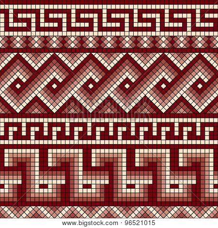 Greek mosaic seamless