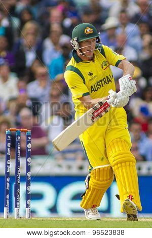 LONDON, ENGLAND - June 17 2013: Australia's George Bailey batting during the ICC Champions Trophy international cricket match between Sri Lanka and Australia.