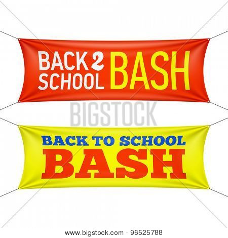 Back to School Bash banners. Vector.