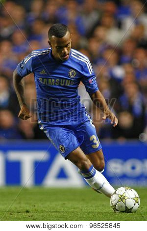 LONDON, ENGLAND. September 19 2012 Chelsea's English defender Ryan Bertrand  during the UEFA Champions League football match between Chelsea and Juventus played at Stamford Bridge