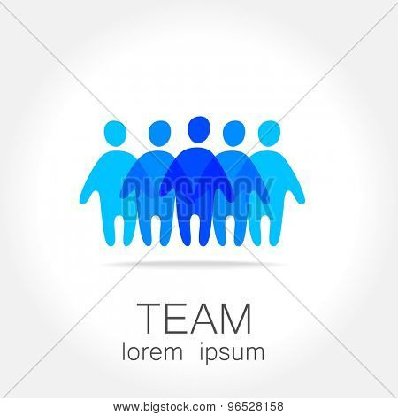 Sign of the leader. Symbol leader in team. Director, boss, top manager, the manager, the owner, led a successful team.
