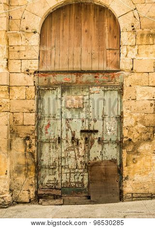 The old front door in the historic center of Malta