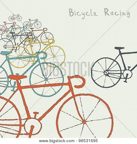 Colored bikes